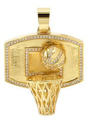 Mens Gold Basketball Pendant | 22.3 Grams
