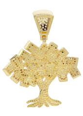 Mens Gold Tree Pendant | 9 Grams
