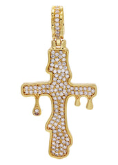 Gold Melting Cross Pendant | 10.9 Grams