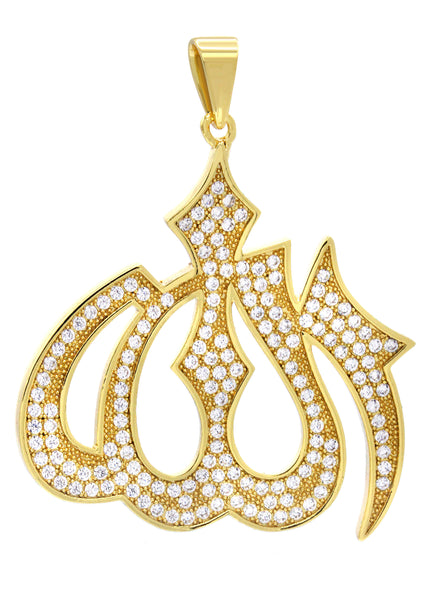Mens Gold Allah Pendant | 6.2 Grams