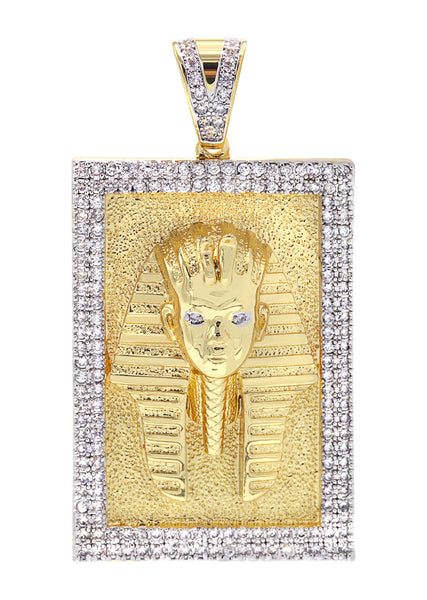 Mens Gold Pharaoh Pendant | 28.4 Grams