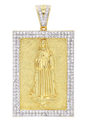 Mens Gold Virgin Mary Pendant | 25.8 Grams