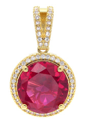 Mens Gold Ruby Pendant | 7.4 Grams