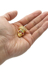 Mens Gold Skull Pendant | 13 Grams