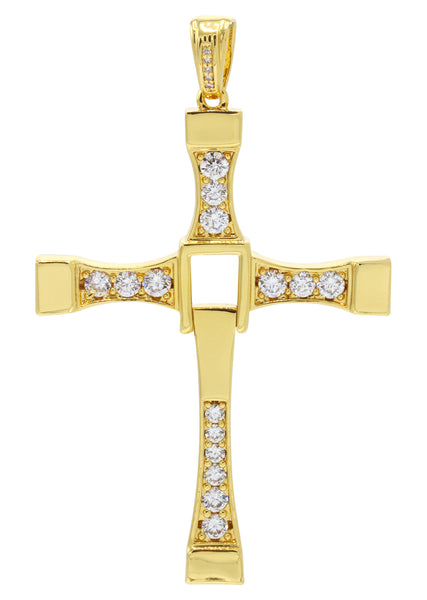 Mens Gold Cross Pendant | 18.7 Grams