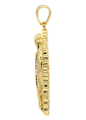 Mens Gold Virgin Mary Pendant | 16.8 Grams