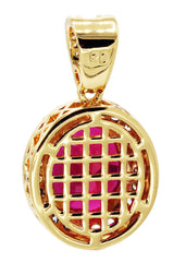 Mens Gold Ruby Pendant | 4.3 Grams
