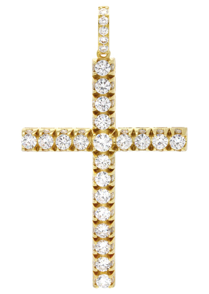 Mens Gold Cross Pendant | 22.5 Grams