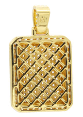 Mens Gold Dog Tag Pendant | 13.5 Grams
