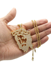 Mens Gold Rope Chain & Jesus Piece Chain | Appx. 46.5 Grams