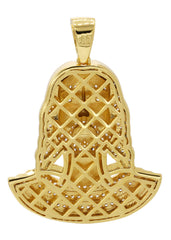 Mens Gold Jesus Head Pendant | 14.1 Grams
