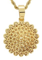 Mens Gold Rope Chain & Dog Tag Pendant | Appx. 33 Grams