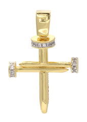 Mens Gold Cross Pendant | 7 Grams