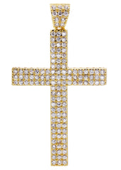 Mens Gold Cross Pendant | 11.9 Grams