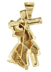 Mens Gold Cross Pendant | 6.4 Grams
