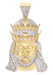 Mens Gold King Pendant | 11.5 Grams