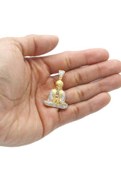 Mens Gold Buddha Pendant | 6 Grams