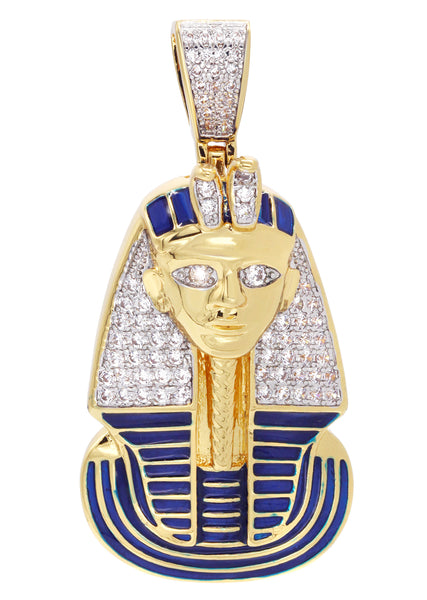 Mens Gold Pharaoh Pendant | 8 Grams