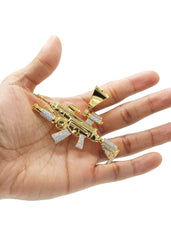 Mens Gold Gun Pendant | 23.9 Grams