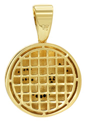 Mens Gold Emoji Pendant | 6.3 Grams