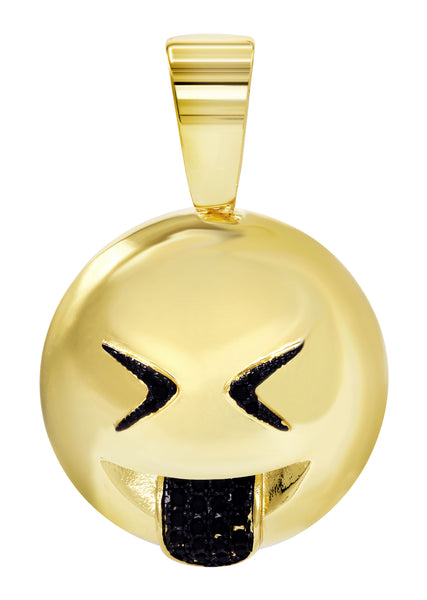 Mens Gold Emoji Pendant | 8 Grams