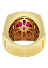 Mens Gold Ruby Ring | 20 Grams