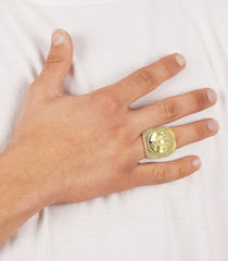 Mens Gold Plated Pinky Ring | 18.8 Grams