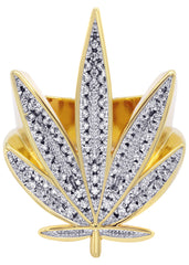 Gold Marihuana Leaf Ring | 15 Grams