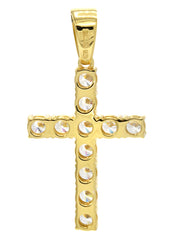 Mens Gold Cross Pendant | 5 Grams