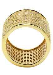 Mens Gold Plated Eternity Ring | 10 Grams