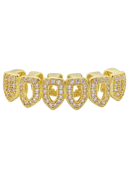 Gold Diamond Grillz | 2.1 Grams