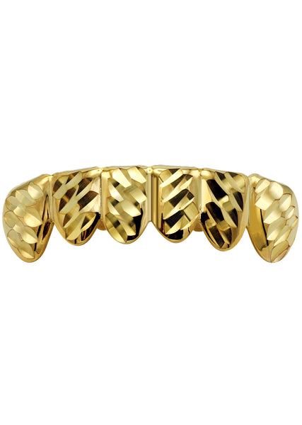 Gold Diamond Cut Grillz | 2.5 Grams