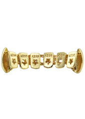 Gold Diamond Cuban Grillz | 3.7 Grams