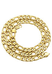 14K Gold Mens Figaro Chain