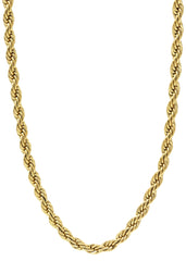Mens Solid Rope 14K Gold Chain