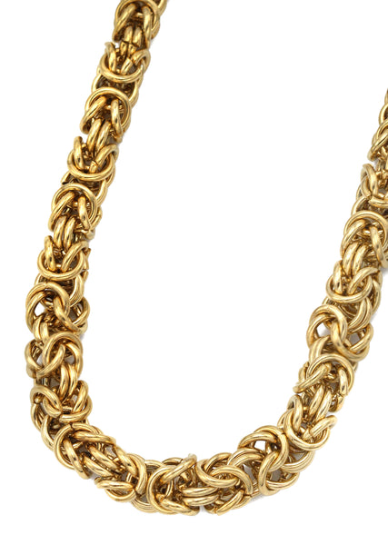 14K Gold Mens Byzantine Chain