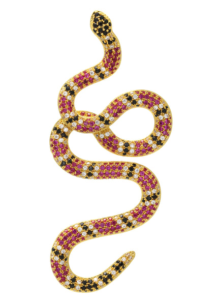 Gold Twisted Snake Pendant | 10 Grams