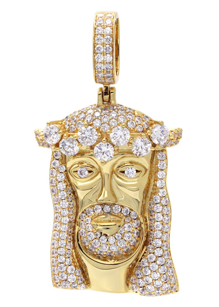 Gold Jesus Head Pendant | 26.7 Grams