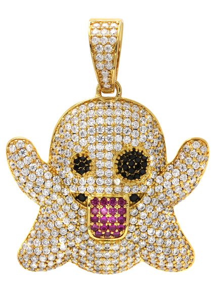Gold Ghost Emoji Pendant | 18.2 Grams