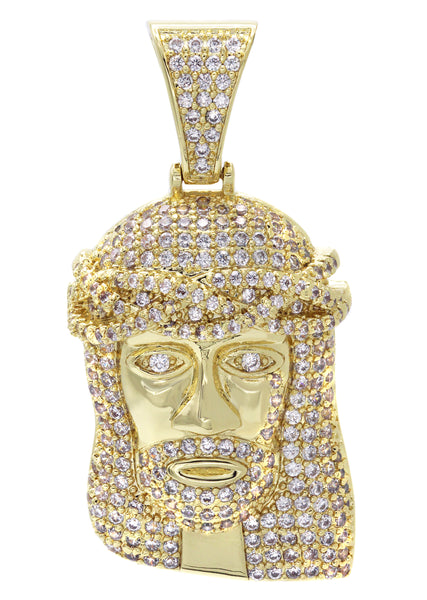 Gold Jesus Head Pendant | 14.8 Grams