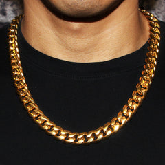 14K Gold Mens Chain Solid Miami Cuban Link