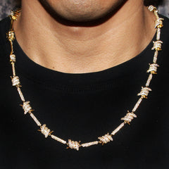 14K Gold Barbed Wire Chain