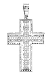 14K White Gold Baguette Pendant | 11.8 Grams