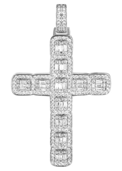 14K White Gold Baguette Pendant | 13.6 Grams