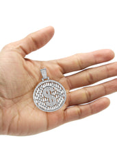 14K White Gold Money Sign Pendant | 12.7 Grams