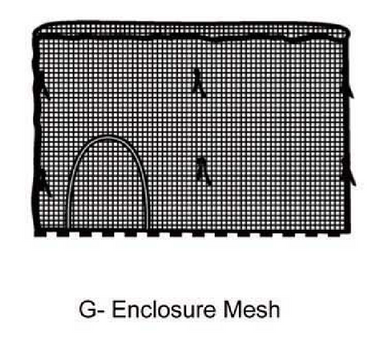 12' Mesh Enclosure for AirZone Basic 12' Trampoline (WM)