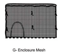 Load image into Gallery viewer, 15' Mesh Enclosure for AirZone Basic 15' Trampoline (WM)
