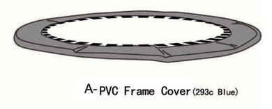 Replacement 8' AirZone Basic Trampoline Frame Cover (Blue- AZ600550)