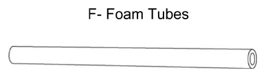 Foam Tubes for Enclosure Poles for 12'/15' Basic Trampolines (12/set)- WM-00615/00512 (AZ-600568 F)568)