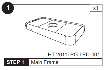 HT-2011LPG LED Table Top Replacement w/ Motor (HT-2011LPG-LED-001)